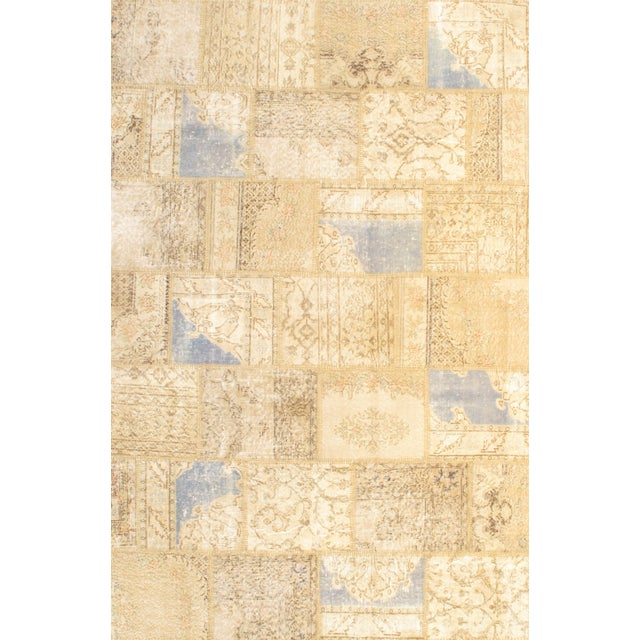 Pasargad N Y Beige Contemporary Patchwork Rug - 6' X 9' For Sale