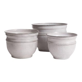 Kenneth Ludwig Chicago Camelia Pots - Set of 3 For Sale