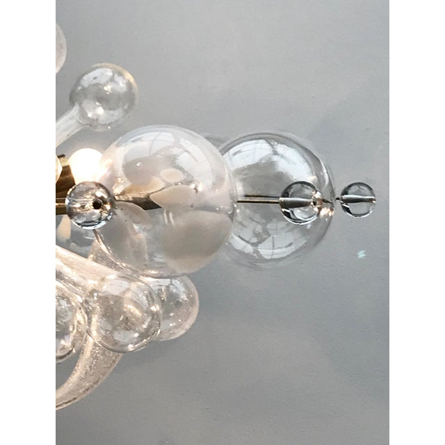 1960s Czech Republic Glass Suspension Chandelier For Sale - Image 6 of 12