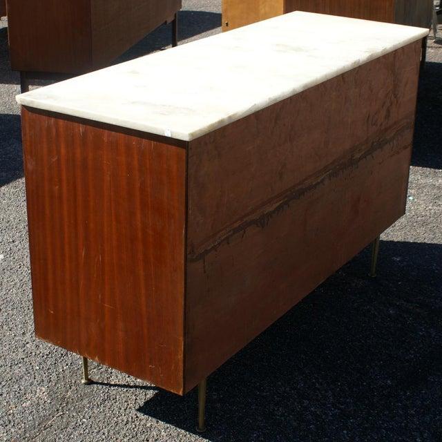 Mid-Century Modern Vintage Cane Marble Dresser For Sale - Image 3 of 7