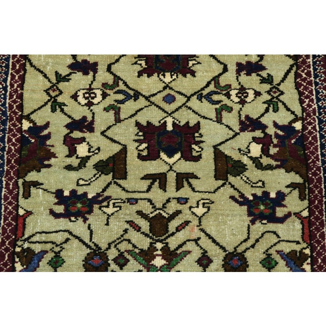 Art Deco Vintage Turkish Kilim Rug For Sale - Image 3 of 13