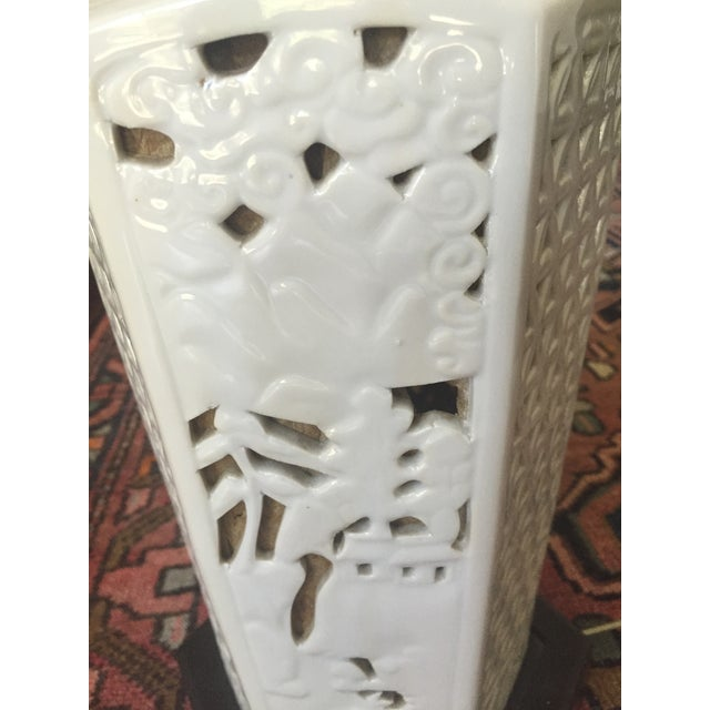 White Blanc De Chine Table Lamp For Sale - Image 8 of 8