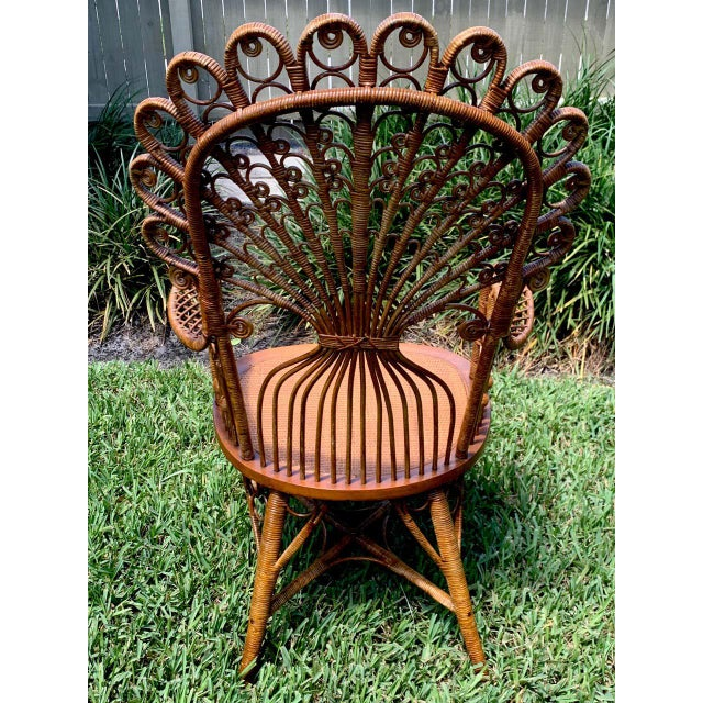 Brown High Victorian Wicker Parlour Set - Set of 6 For Sale - Image 8 of 13