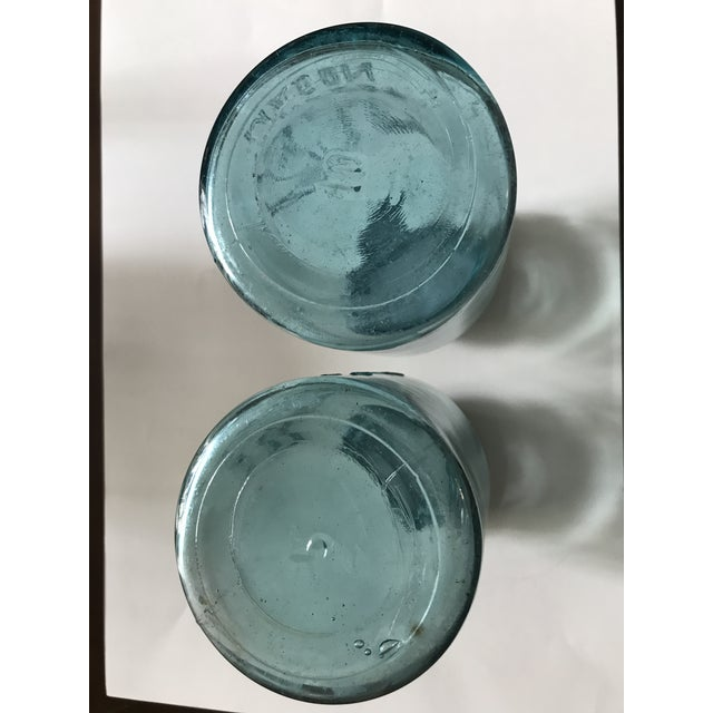 Vintage Blue Ball Jars With Tin Lids - 2 - Image 6 of 6