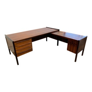 Stunning Executive Rosewood Desk For Sale