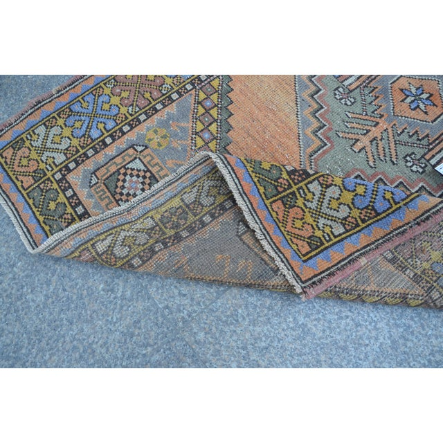 Turkish Oushak Antique Wool Rug - 3′6″ × 5′6″ For Sale - Image 4 of 11