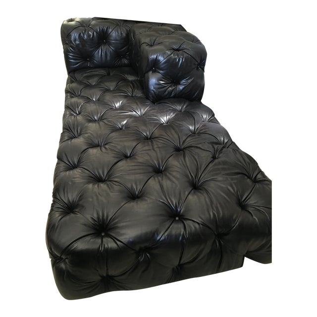 Soho Tufted Leather Left-Arm Chaise Sectional - Image 1 of 3