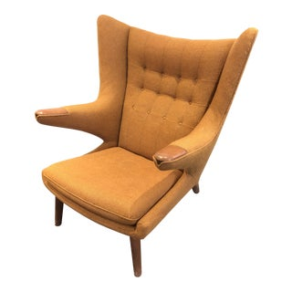 1950s Vintage Ap Stolen for Hans J. Wegner Original Papa Bear Easy Chair For Sale
