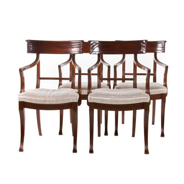 Brown 20th Century Mahogany Klismos Chairs- Pair For Sale - Image 8 of 8