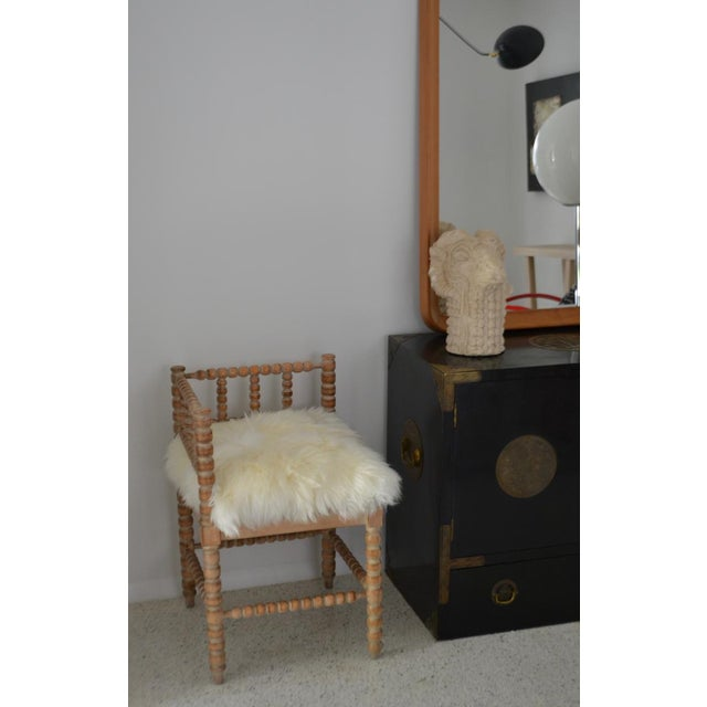 1950s Turned Wood Corner Chair For Sale - Image 5 of 13