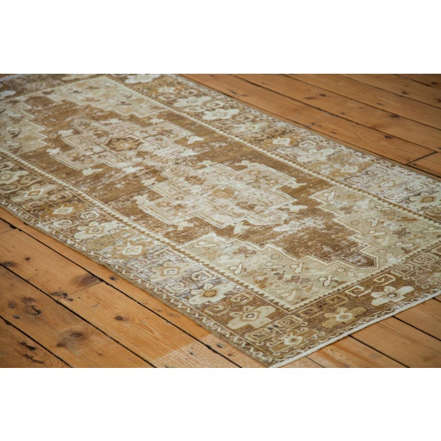 """Mid 20th Century Distressed Oushak Rug Runner - 3'6"""" X 6'9"""" For Sale - Image 5 of 8"""