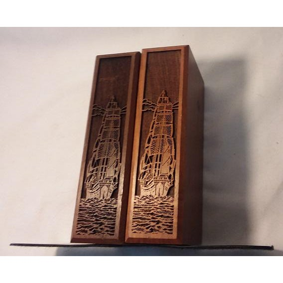 This pair of vintage Carved Walnut Ship Bookends make a wonderful nautical themed Graduation, Father's Day or Birthday...
