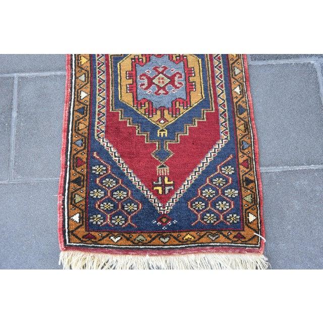 Boho Chic Vintage Turkish Handmade Rug - 1′7″ × 3′2″ For Sale - Image 3 of 7