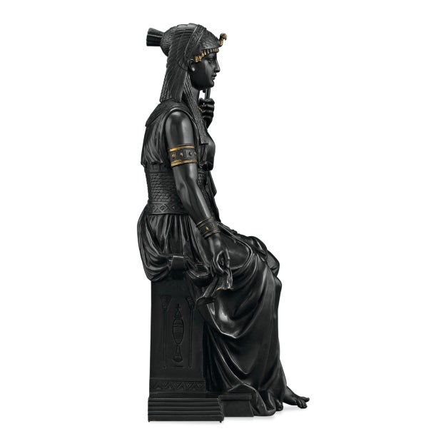 Bronze Isis by Emile-louis Picault For Sale - Image 4 of 7