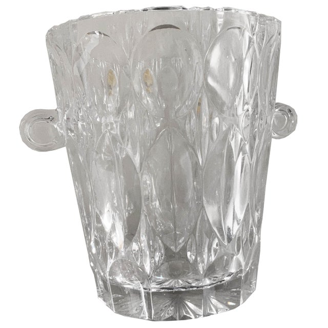 Vintage 1970s Lead Crystal Ice Bucket For Sale - Image 9 of 9