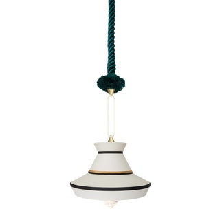 Contardi Calypso Guadalupe Pendant Light in Moss Green and White For Sale