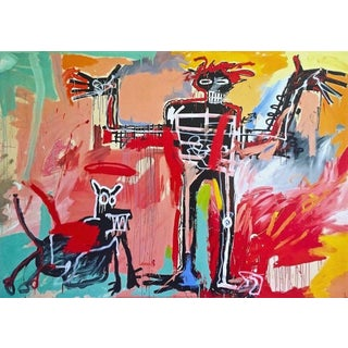Boy and a Dog in a Johnny Pump (1982), Giclee Print, Jean-Michel Basquiat For Sale