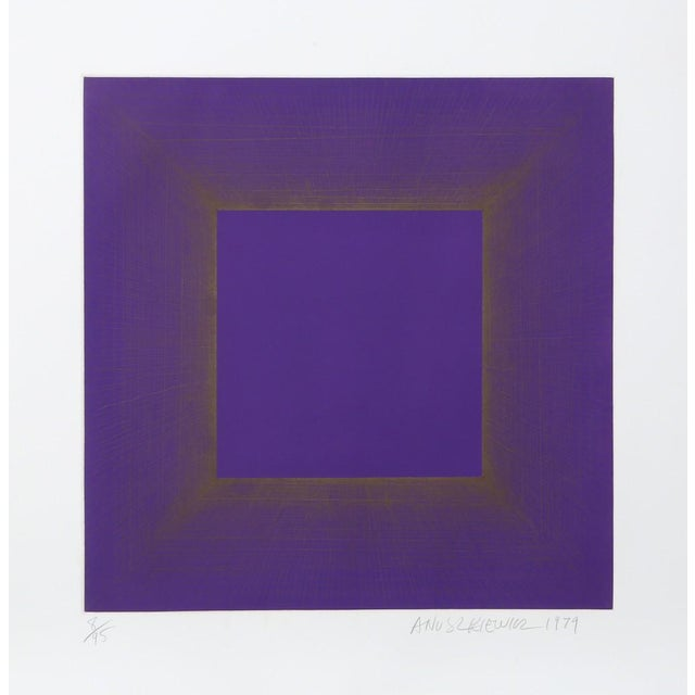 Abstract Richard Anuszkiewicz, Midnight Suite (Purple with silver), 1979 For Sale - Image 3 of 3