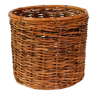 Boho Style Wicker Plant Holder For Sale