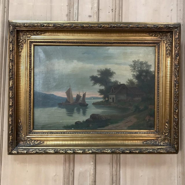 Pair 19th Century Framed Oil Paintings on Canvas For Sale - Image 4 of 13