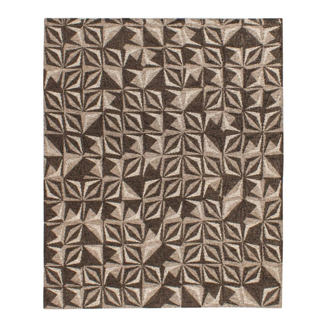 2010s Solo Rugs Grit and Ground Collection Contemporary Samoa Hand-Knotted Flatweave Area Rug, Gray, 8' X 10' For Sale - Image 5 of 5