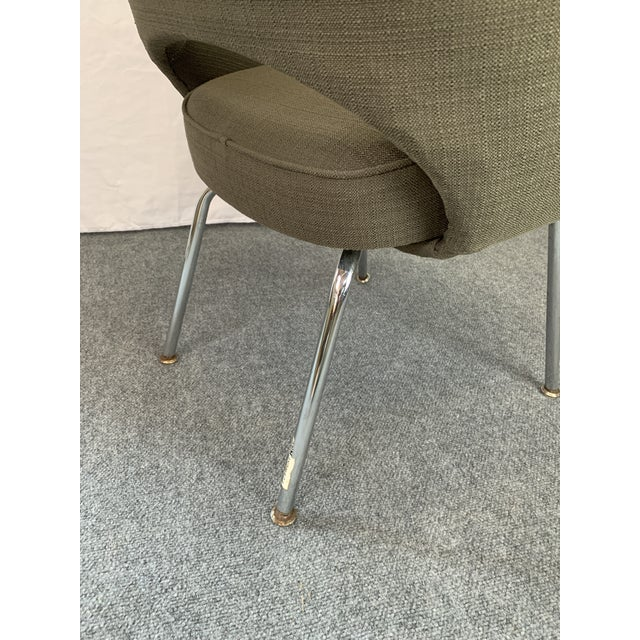 Olive Executive Arm Chair Attributed to Eero Saarinen for Knoll For Sale - Image 8 of 11