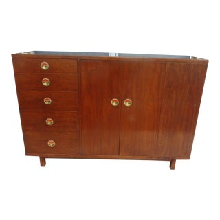 1950s Mid Century Modern Dunbar Wormley Natzler Credenza For Sale