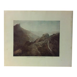 "Antique Glimpses of India Print, ""Reversing Station and Duke's Nose - Poona Ghat"", Circa 1890 For Sale"