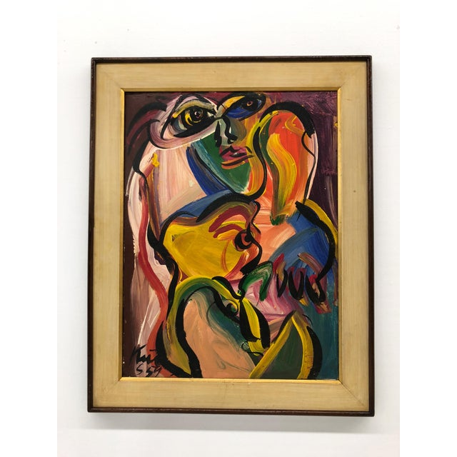 1959 Peter Kiel Oil Painting For Sale In Boston - Image 6 of 10