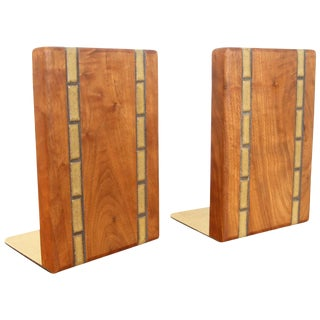 Martz Walnut Bookends for Marshall Studios For Sale