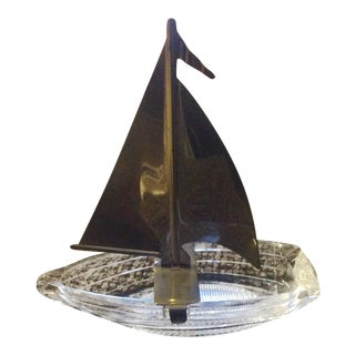 Vintage Mid-Century Sailboat Model Dish For Sale