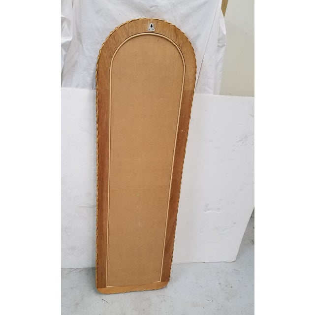 Tall Wicker Wall Mirror For Sale - Image 4 of 5