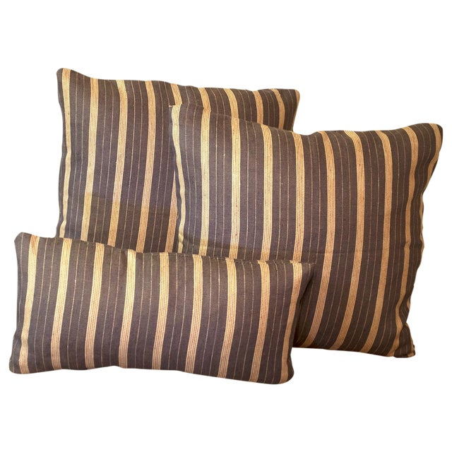 Rogers & Goffigon Linen Striped Pillows - S/3 - Image 1 of 5
