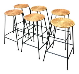 Image of Wicker Bar Stools