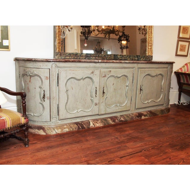 Louis XV Style Marble Top Buffet For Sale - Image 4 of 10