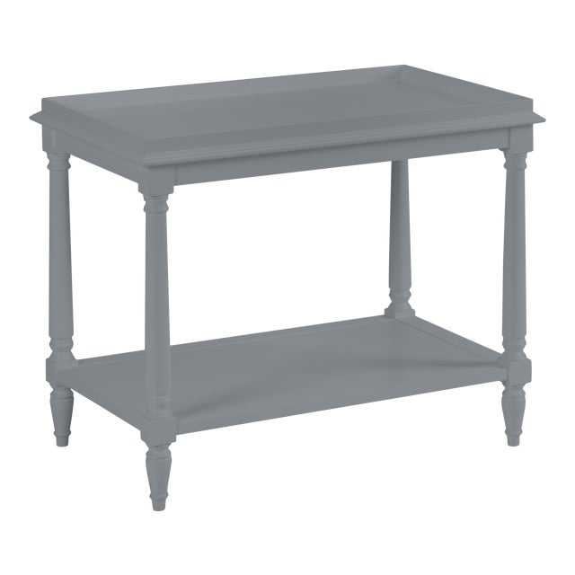 Casa Cosima Revere Side Table, Dior Gray For Sale