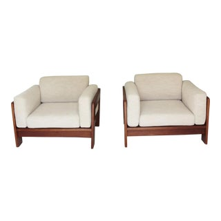Tobia Scarpa for Knoll Mid-Century Lounge Chairs - A Pair For Sale
