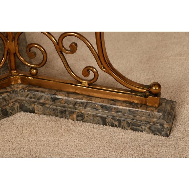 Brass & Marble Center Table For Sale - Image 9 of 11