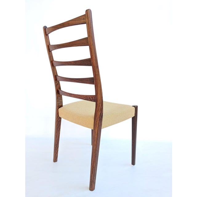 1960s Danish Modern Svegards Markaryd Rosewood Ladder Back Dining Chairs - Set of 4 For Sale In Sacramento - Image 6 of 13