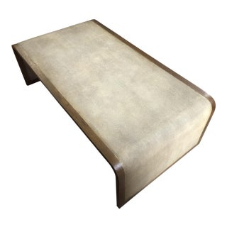 Modern Style Shagreen Coffee Table For Sale