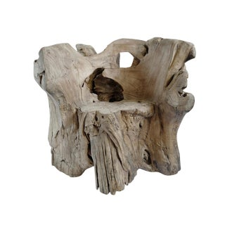 Organic Tree Stump Chair