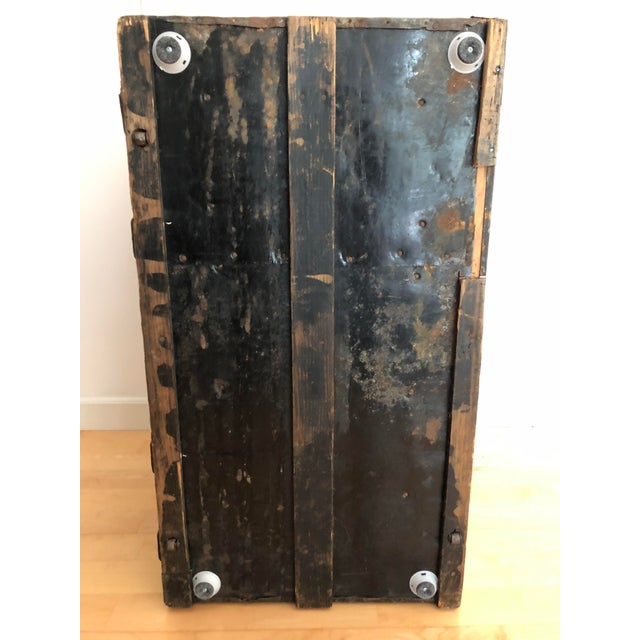 Late 1800s Irish Dome Top Carriage Trunk Chest For Sale - Image 12 of 13