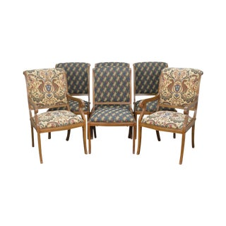 Andre Originals Regency Directoire Style Set of 6 Dining Chairs For Sale