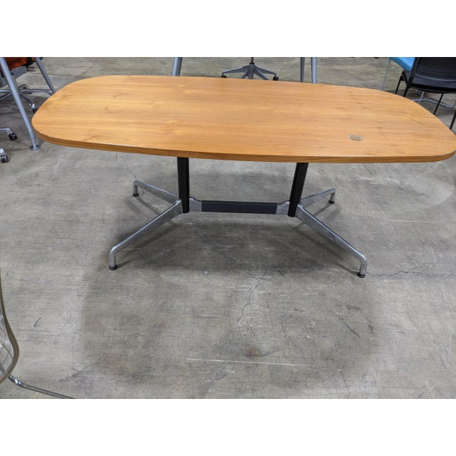 Burnt Umber Mid-Century Modern Eames Table/Writing Desk For Sale - Image 8 of 8