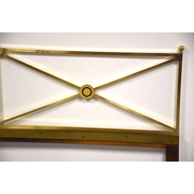 Mid-Century Modern Solid Brass King Headboard by Baker Mid-Century Modern For Sale - Image 3 of 8