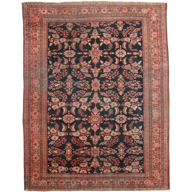 RugsinDallas Hand Knotted Persian Mahal Rug - 10′4″ × 13′7″ For Sale