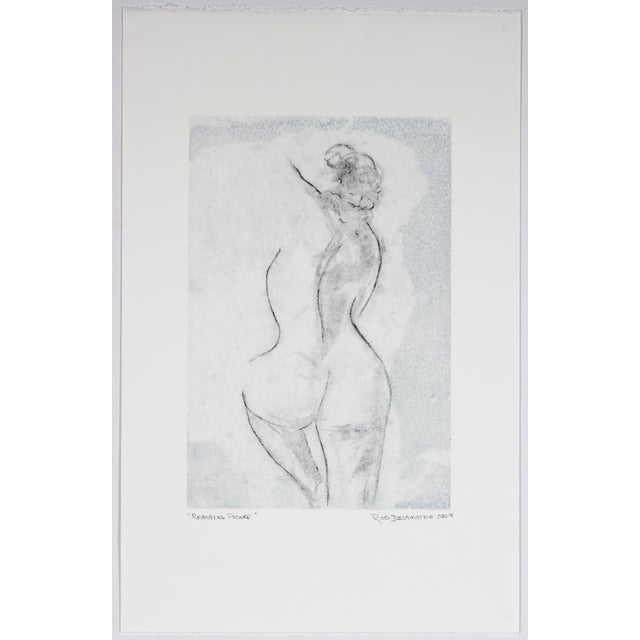 Rob Delamater Figural Charcoal & Ink Drawing - Image 2 of 2
