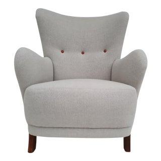 1960s Danish Gray Armchair For Sale