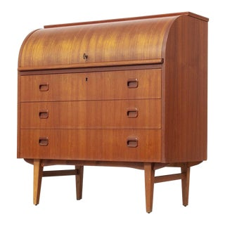 Mid Century Egon Ostergaard Rolltop Secretary Desk For Sale
