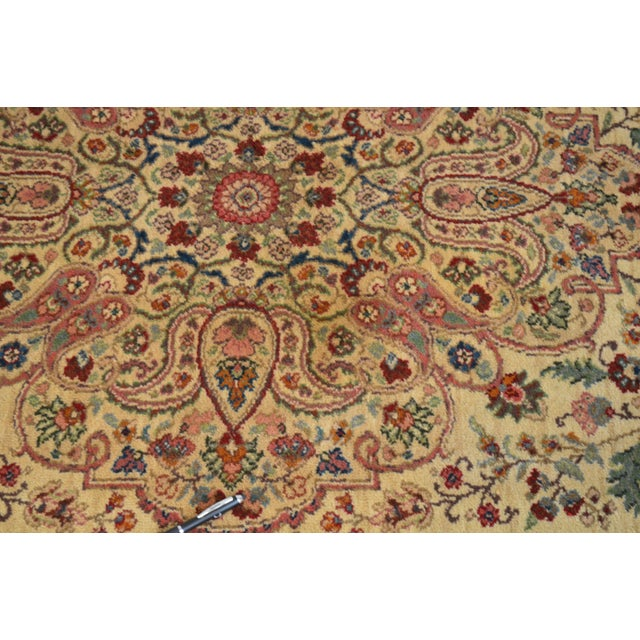 Karastan Tabriz Medallion Samovar Tea Wash 5'9 x 9' Rug For Sale - Image 10 of 12